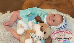 Solid Silicone All Body Newborn Reborn Baby Boy Reborn Doll Drink & Wets Diaper