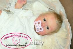 Solid Silicone All Body Newborn Reborn Baby Girl Reborn Doll Blond Blue Eyes