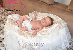 Solid Silicone All Body Newborn Reborn Baby Girl Reborn Doll Drink & Wets Diaper