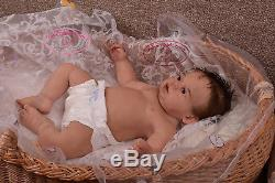 Solid silicone baby toddler girl (reborn doll) skeleton body and joints Handmade