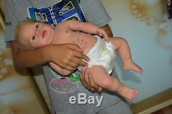 Solid silicone full body baby toddler boy (reborn doll) Drink & pee Korea eye